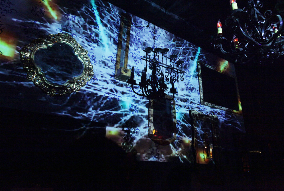 Projected Visuals by Sixto Zavala at Hi Tones //  Photographed by Fabian Villa.
