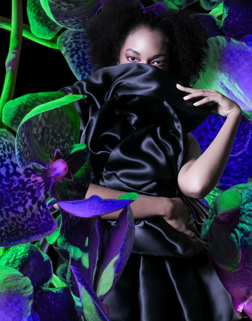 Photography & Collage: Fabian Leon Villa / EssentialsCreative.com Fashion Design: Jordan Butler @simulacrapbag Model: Ebanie Griffith @beaniebbby