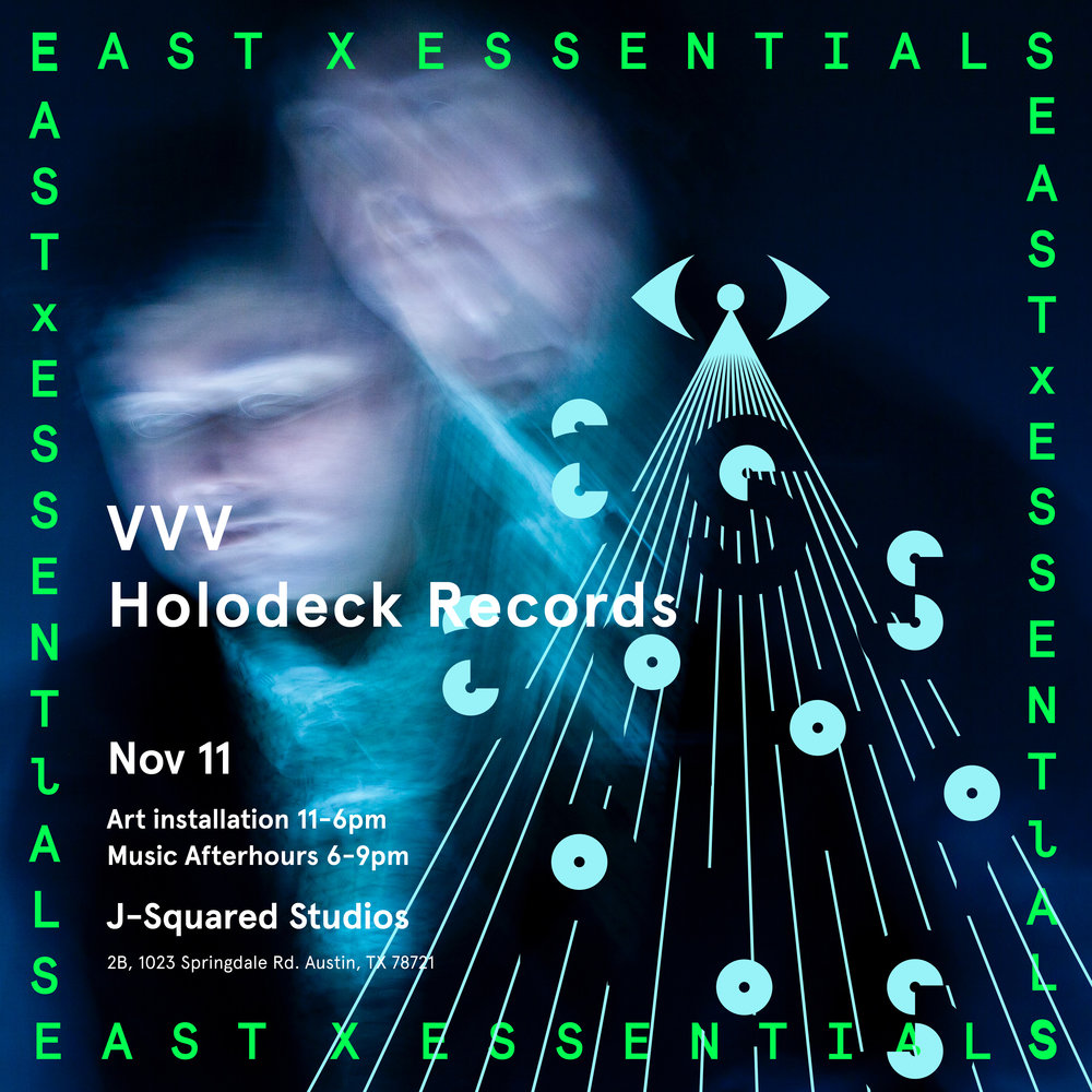 VVV, Alternate flyer for EAST X ESSENTIALS CREATIVE