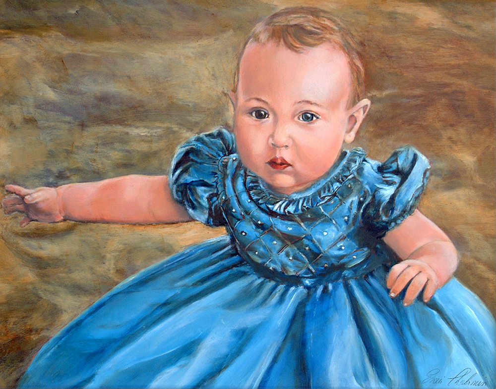 Dear Enzie,  We wanted to thank you so much for the beautiful portrait of Samantha. It is so special and we will always treasure it. Rob and Tami Telson ~ Tustin, CA