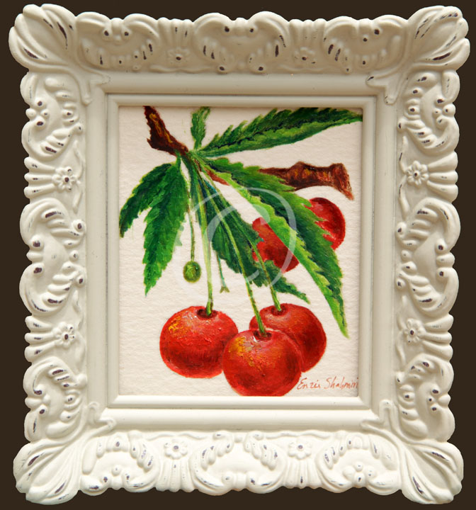 Cherries+on+A+Branch+Framed.jpg