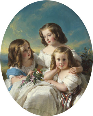 Three Girls of Chateaubourg Family H Winterhalter
