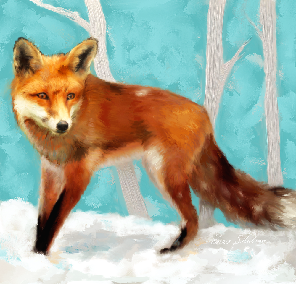 Red Fox by Enzie Shahmiri available here