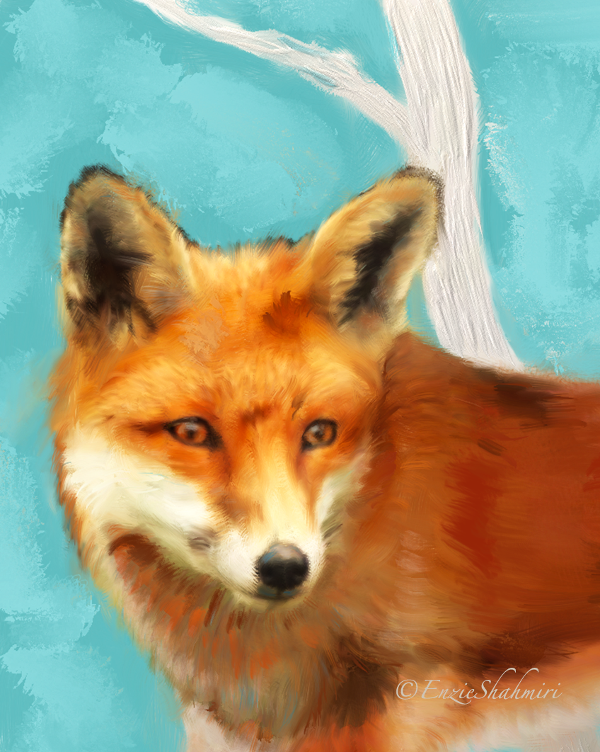 Red Fox Head Detail