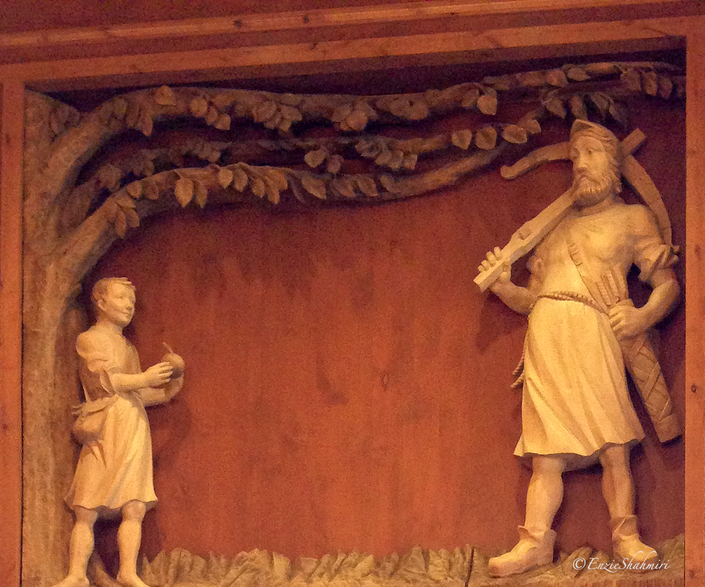 Intricate Fireplace Relief