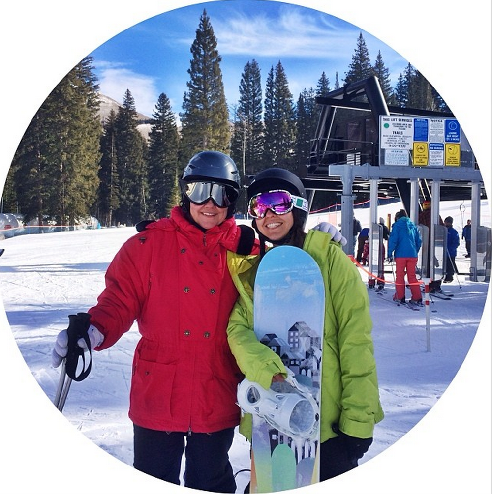 Two ski bunnies