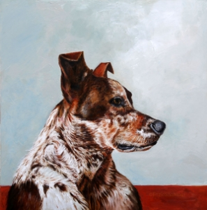 """Enzie painted a beautiful portrait of my heeler/dalmatian mixed dog, and it came out absolutely stunning. From the detail in the various textures of my dogs coat, to capturing the dark black lips she has, the painting looks just like, if not better than, the photo."" Natalie S."