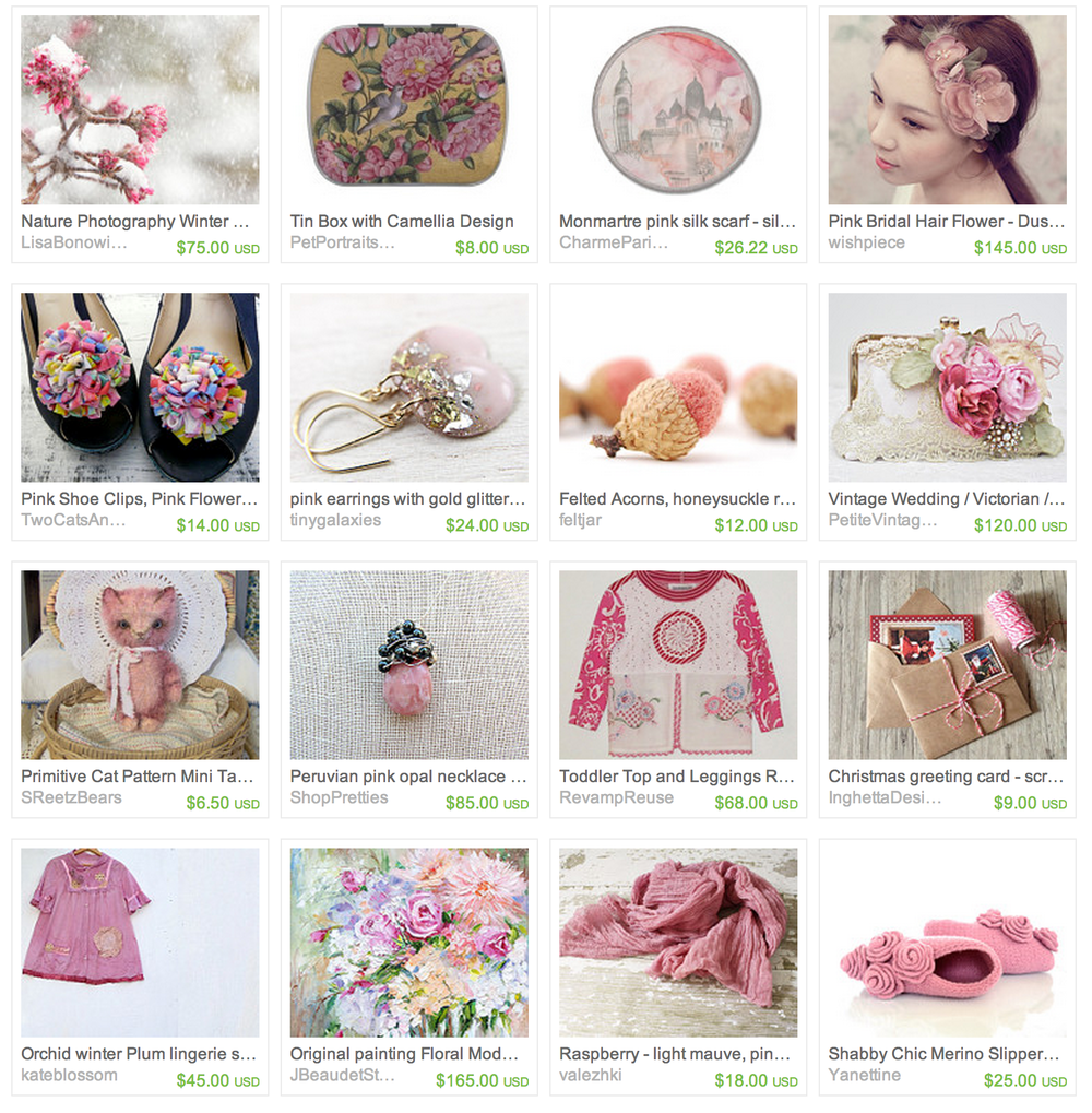 All Items Available vie Etsy