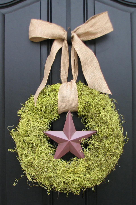 Elegant Wreath with rod iron hook bytwoinspireyou