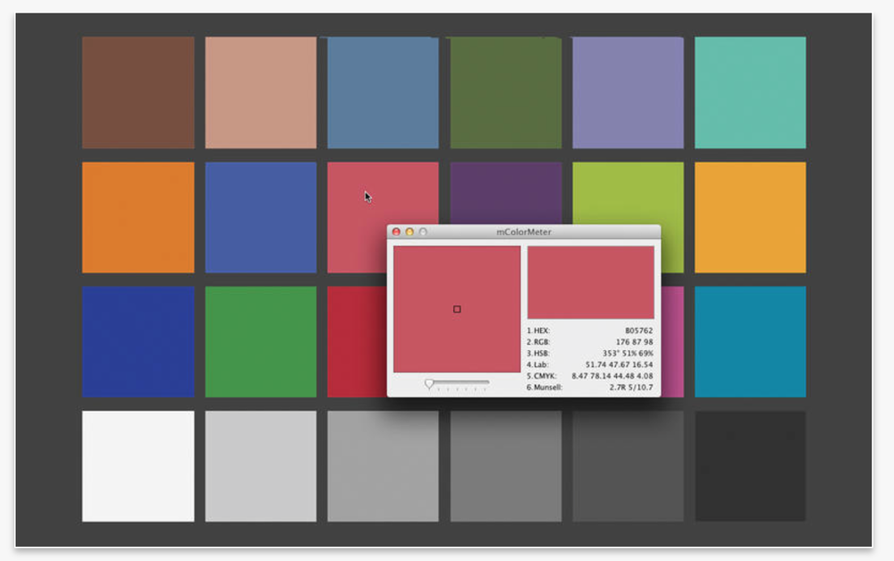 Color Picker with detailed color read out