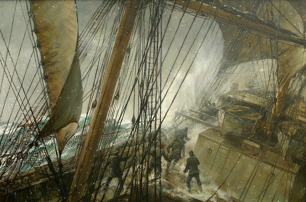 Rounding Cape Horn by Montague Dawson