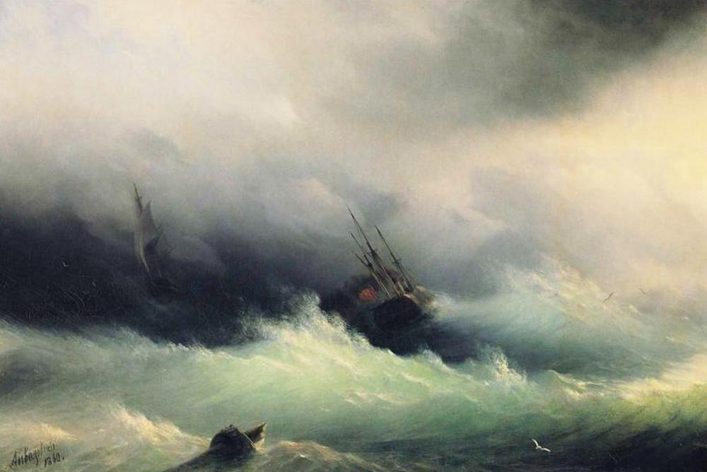 Storm by Ivan Constantinovich Aivazovsky