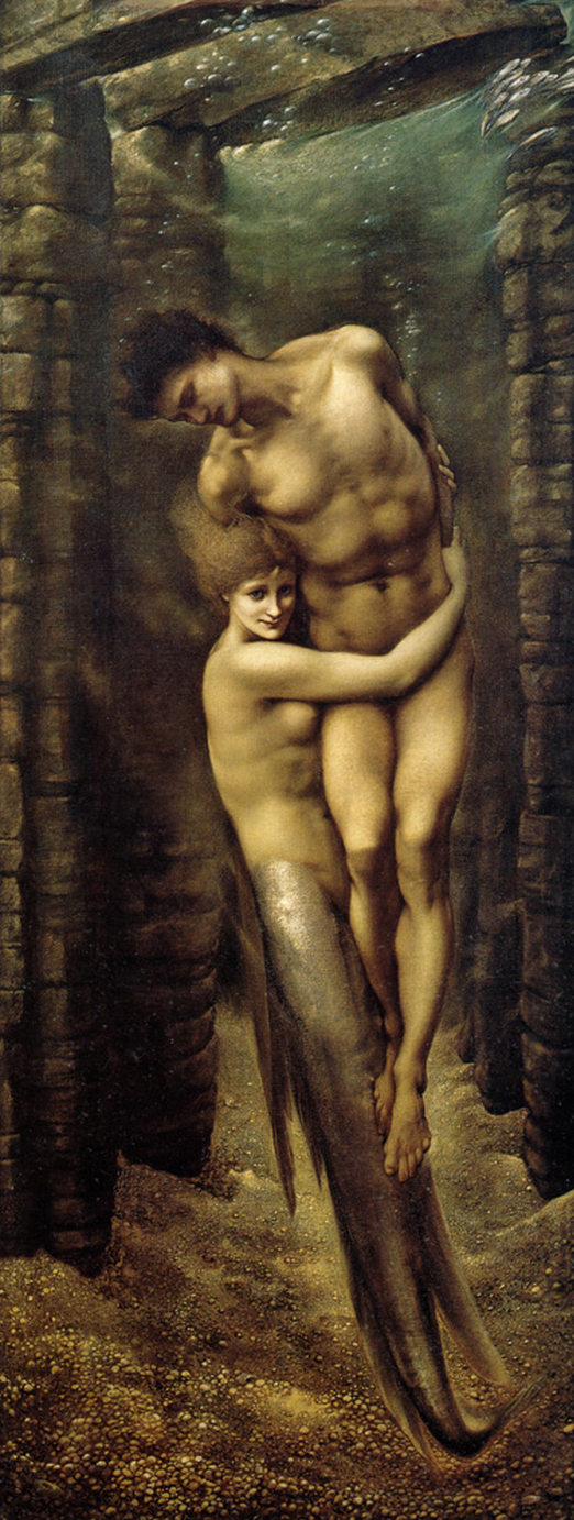 The Depths of the Sea by Edward Burne Jones