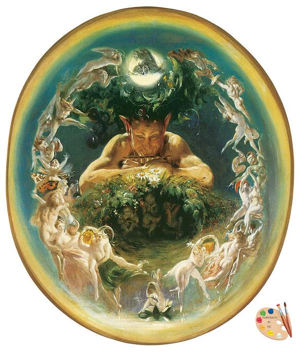 The Faun and the Fairies by Daniel Maclise