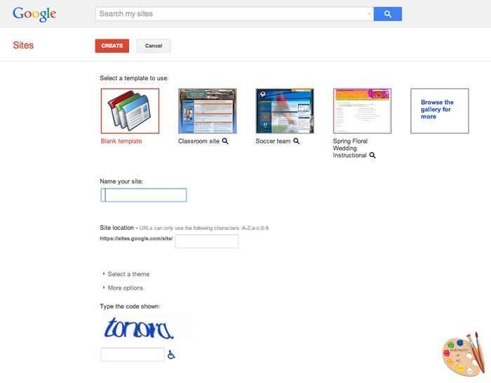 How to create Printable Recipes for your Blog via Google Site Creator
