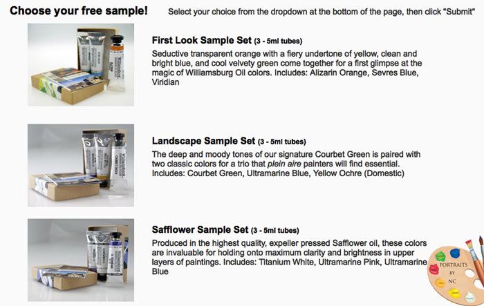 Williamsburg Paint Sample Sets