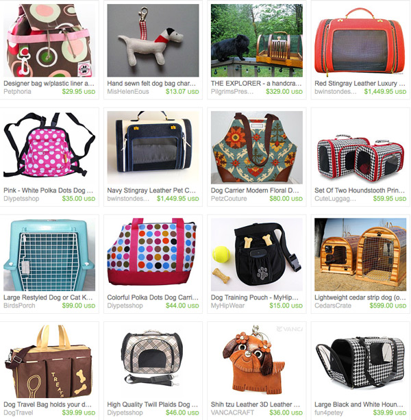 Dog Carriers on Etsy