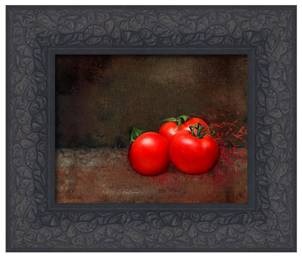Tomato Trio Framed Canvas Print