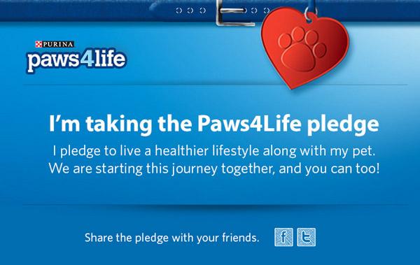 Take the Paws4life Pledge