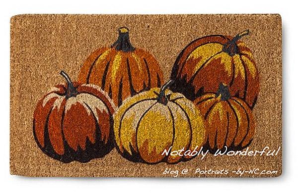 Smith & Hawken Pumpkin Door Mat