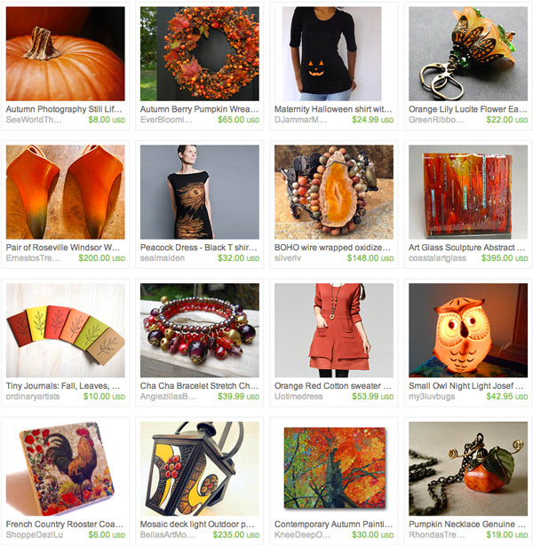 Fall Items spotted on Etsy
