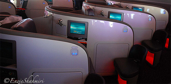 Upper Class Sleep Pods on Virgin Atlantic
