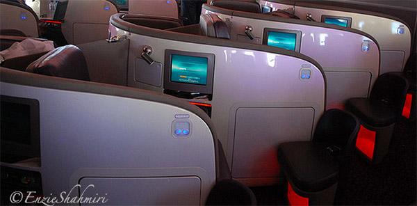 Upper Class Sleep Pods on Virgin Atlantic
