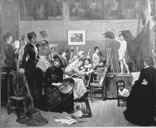 In the Studio 1881 by Marie Bashkirtseff