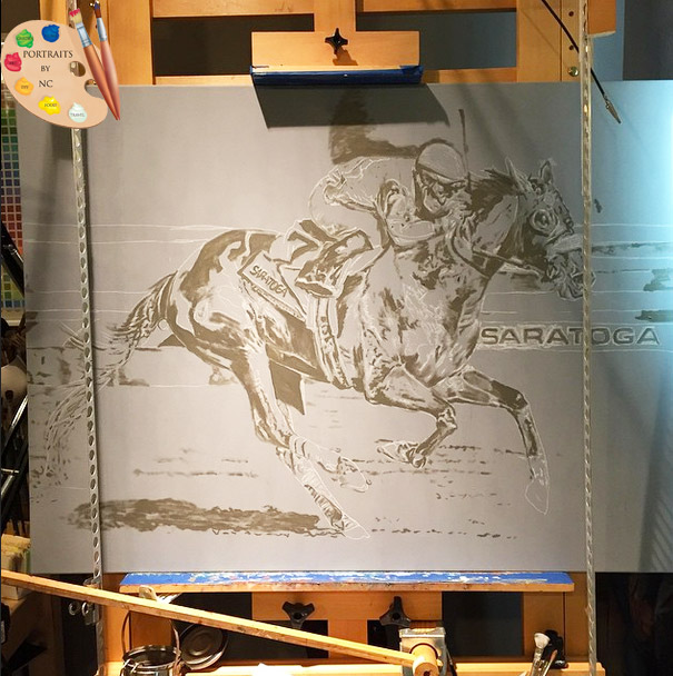 "Sketch of horse portrait ""Wicked Strong"""