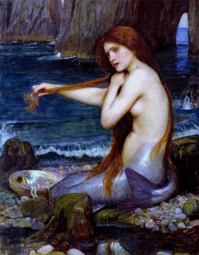 Waterhouse Mermaid Poster