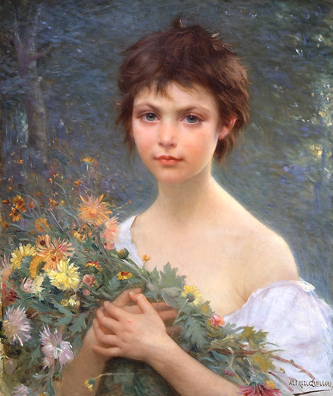 Old Master Painting Alfred Guillou