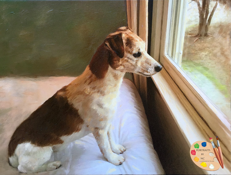 Jack Russell Painting by Portraits by Nc