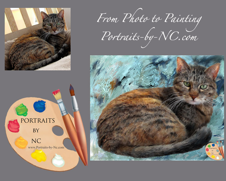 Cat Painting from Photo to Painting
