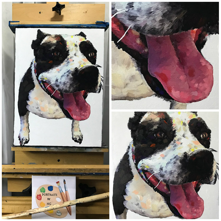 Close Ups of Boxer Painting