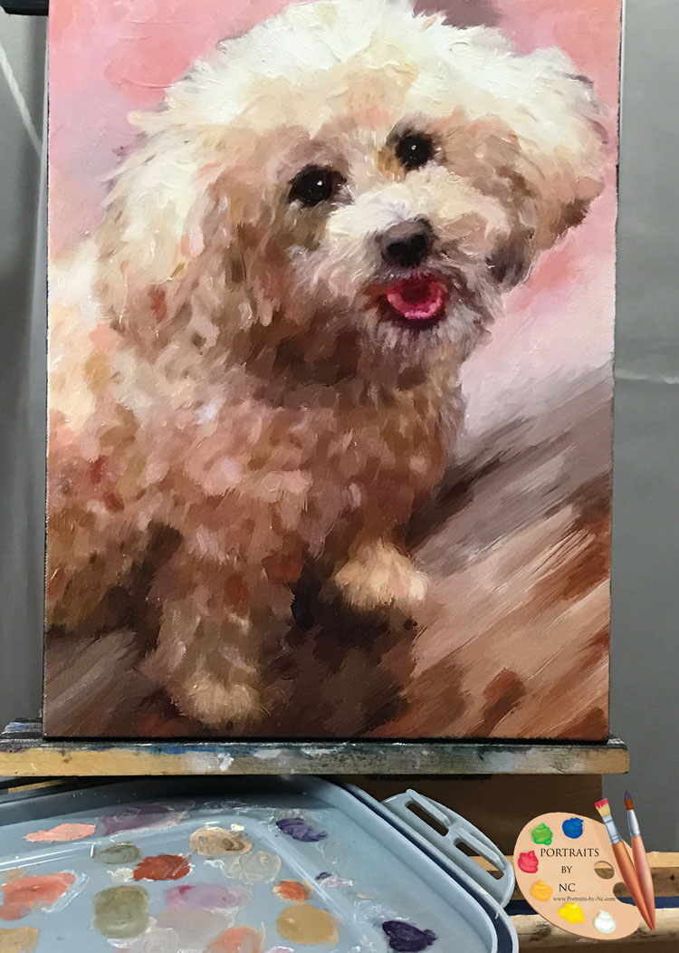 schnozzle on easel