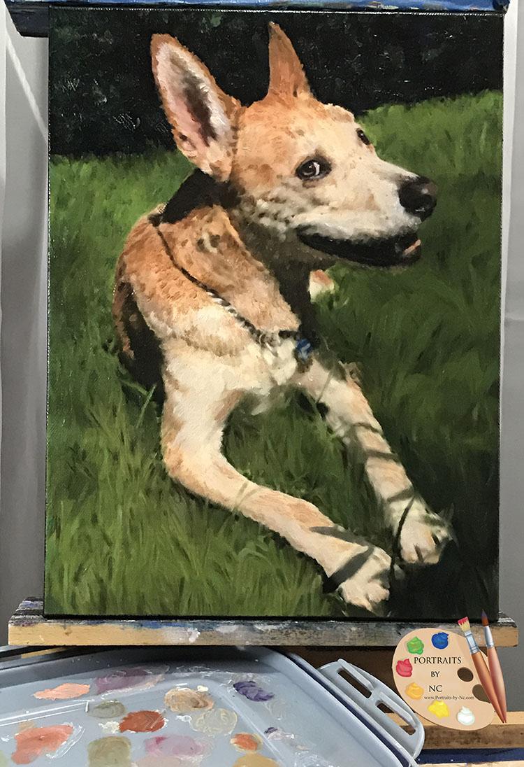 American dingo painting