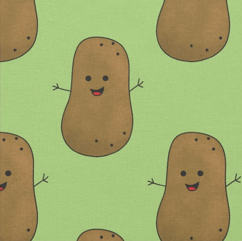 Happy Sweet Potatoes Fabric