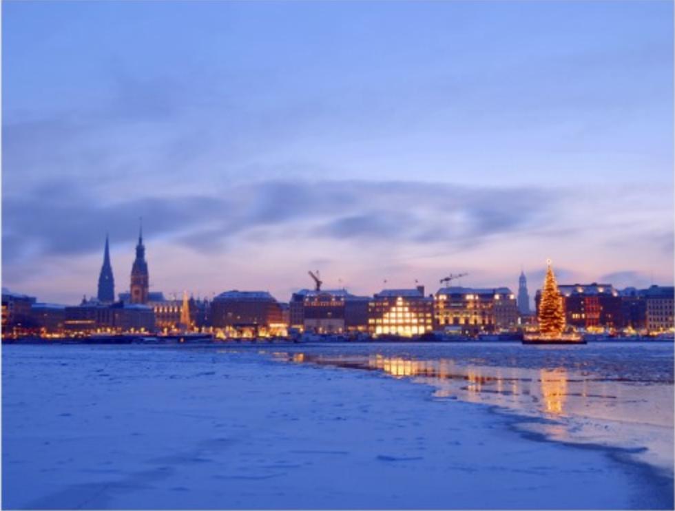 Christmas in Hamburg Postcard