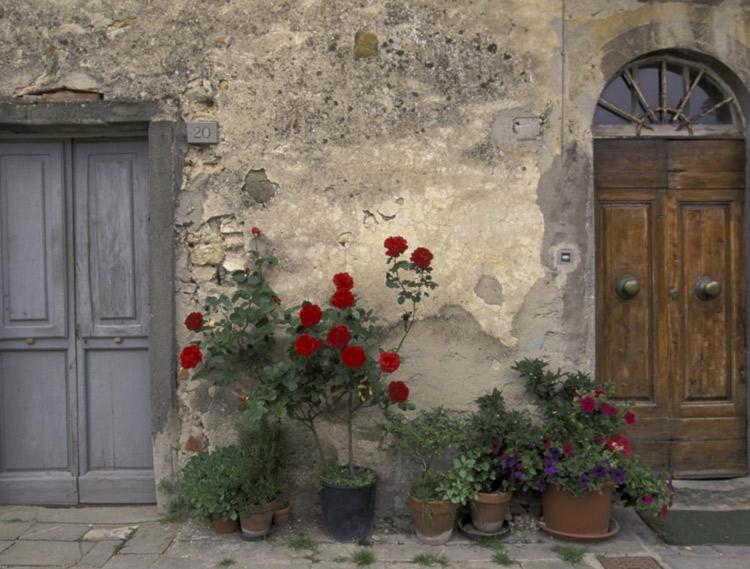 Europe, Italy, Tuscany, Chianti, Tuscan doorway; by DanitaDelimont
