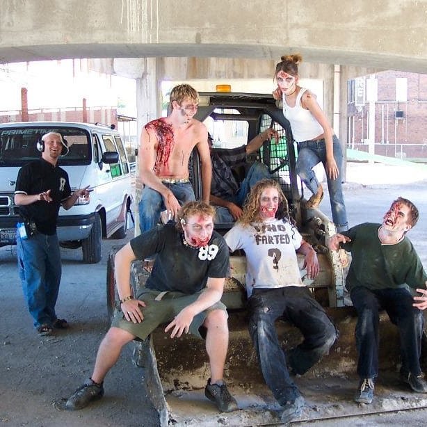 FUN FACT: Every #zombie in Late Afternoon of the Living Dead had a unique name. Can you guess what the middle zombie was named?  #whofarted #horror #horrorcomedy #laotld #zombies #zombiemovies #lowbudget #behindthescenes #bts #lateafternoonofthelivingdead #tbt #throwbackthursday