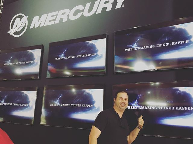 Proud to see our work with @markhamandstein for @mercurymarine at the #MiamiInternationalBoatShow #film #commercial #advertising #miami