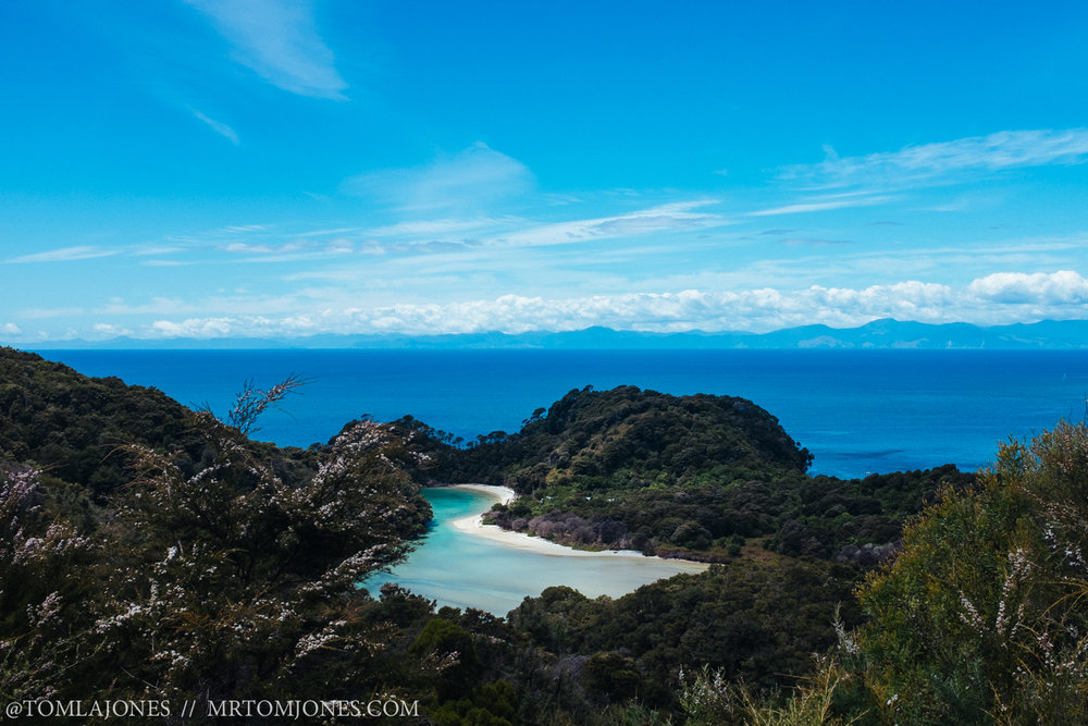 Abel Tasman beach view New Zealand
