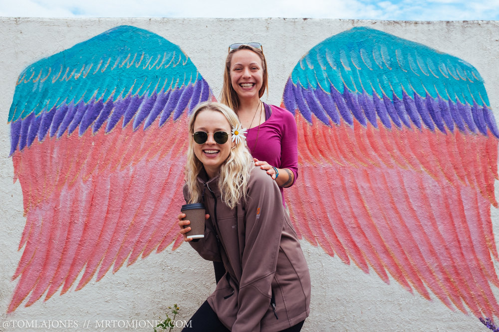 Deni & Em with the angel wings they both deserve.