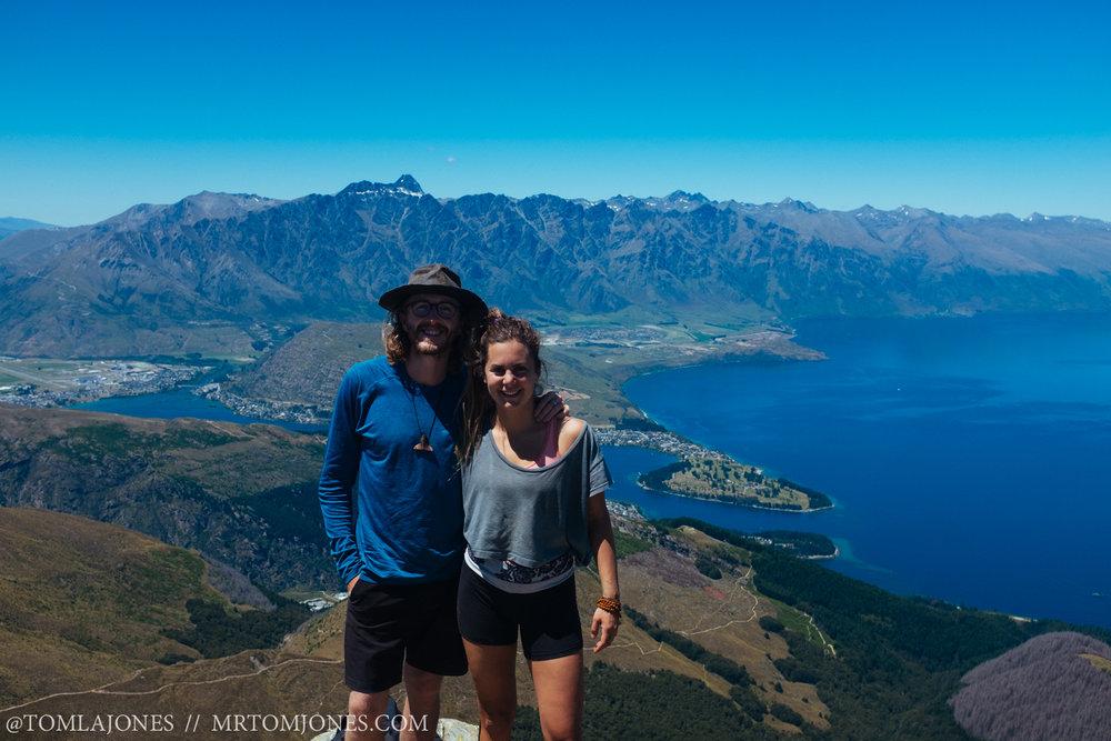 Tara and myself on top of the world, Christmas Day.