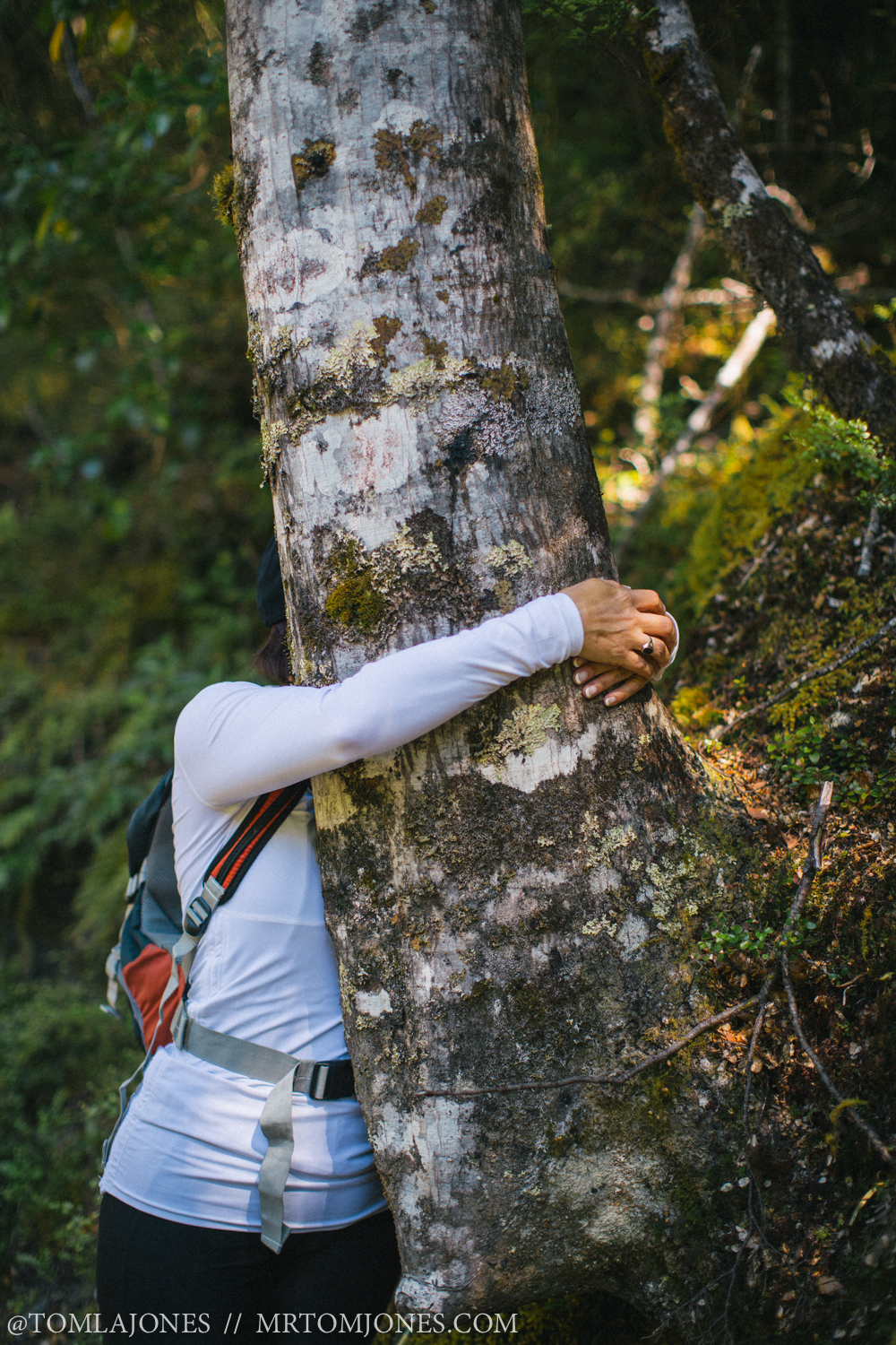 Hug a tree, get tactile, see what difference it makes to your connection with your environment.