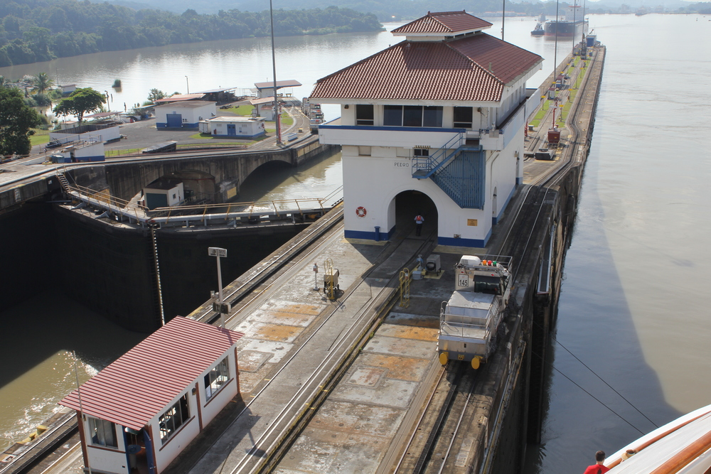 The Pedro Miguel lock.