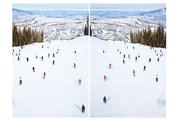 Gray Malin, Top of Snowmass Diptych