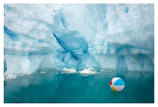 ANTARCTICA: THE PRIVATE COLLECTION Tri-Color Beach Ball