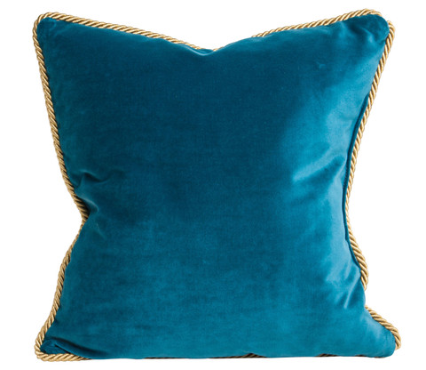 Colorblock Pillow in Deep Teal & Navy