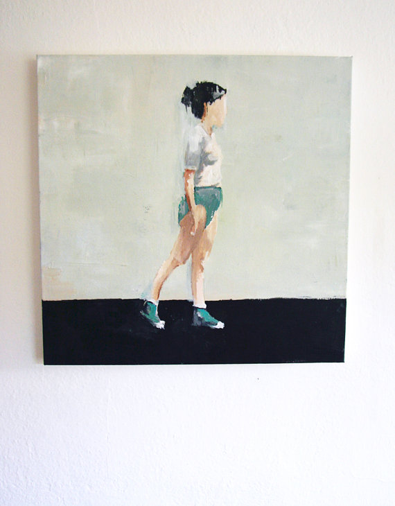 Athletic Painting by Lisa Golightly of Kiki and Polly